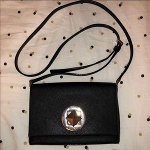 Black Kate Spade side Purse